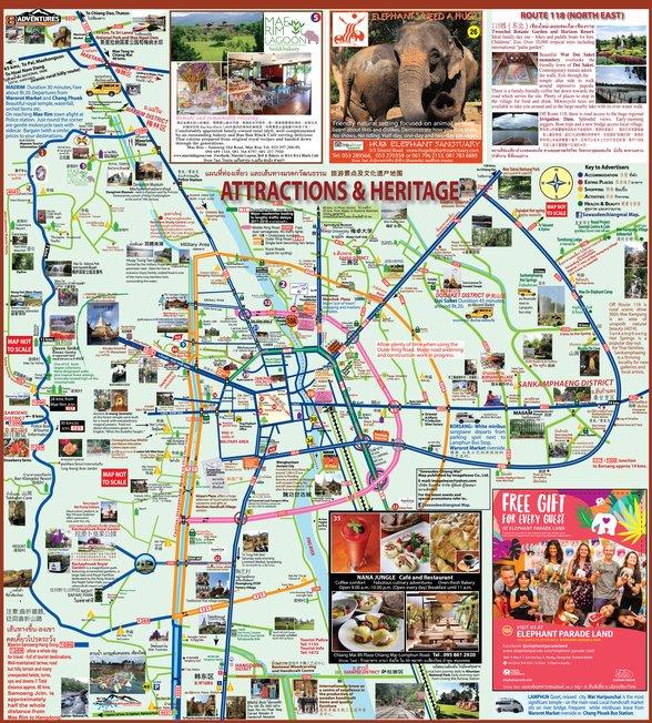Sawasdee Chiang Mai Map